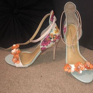 CHINESE LAUNDRY Lily Multi White Heeled Sandals